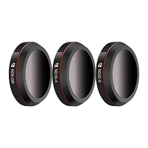 Freewell Landscape ND Gradient - 4K Series - 3Pack ND8-GR, ND16-4,ND32-8 Camera Lens Filters Compatible with DJI Mavic 2 Zoom/Mavic 2 Enterprises, Mavic 2 Enterprises Drones