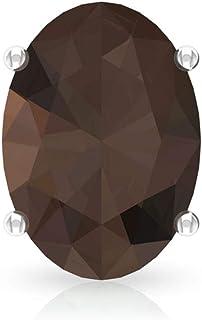 2.2 Ct Smoky Quartz Vintage Stud Earring, Oval Shape Solitaire Women Earring, SGL Certified Gemstone Partywear Earring, Go...