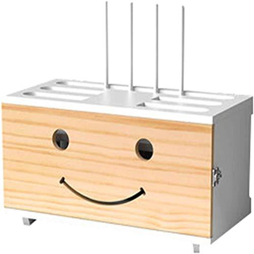 zhouxi Multimedia Set-Top Box WiFi Caja De Almacenamiento De Pared Zócalo Blindaje Caja Dormitorio Sólido Router De Madera Estante De Almacenamiento De TV Gabinete DV Decoración De LaH