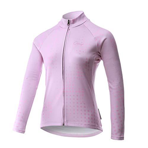 Catena Maglia a Maniche Lunghe da Ciclismo Donna Termica Maglietta Autunno e Inverno Traspirante e ad Asciugatura Rapida Abbigliamento Sportivo