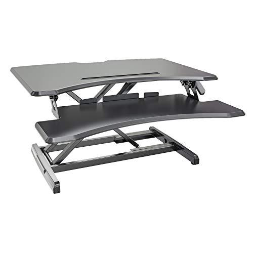 HFTEK Sitz-Steh-Desktop-Schreibtisch Arbeitsplatz Sit & Stand Laptop Mount Workstation (FY33SD)