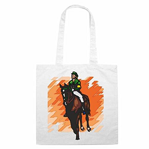 Bolso de diseño nº 4602Reitsport caballo Doma Clásica Mega Sports Hobby Bolsa de la compra escolar Bolsa Turn Presas