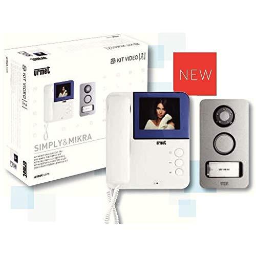 Urmet - Kit de videoportero monofamiliar Symply de 4 pulgadas y botón Mikra 956/81