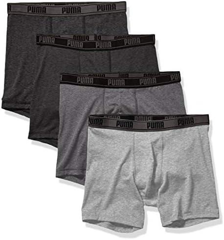 PUMA Men s 4 Pack Tech Boxer Brief Black Grey Medium product image