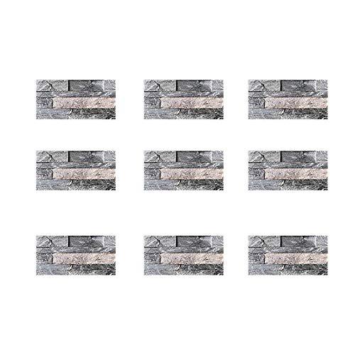 9 pegatinas autoadhesivas para azulejos de mosaico, de colores, para decoración de azulejos de cristal, para decoración del hogar, cocina, baño, pared o puerta