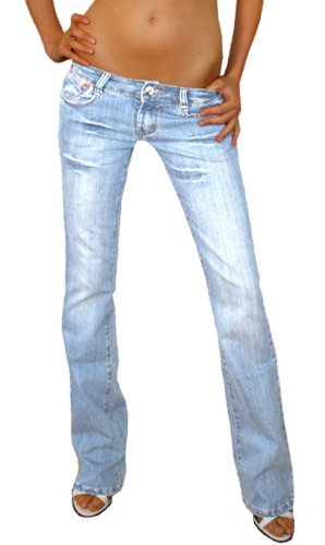 Bestyledberlin Jeans da Donna, Low Rise Jeans Donna, Jeans, Pantaloni j37a