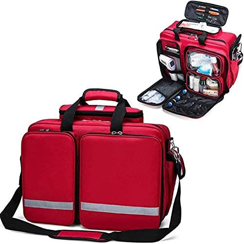 WANGXNCase Botiquín De Primeros Auxilios Mochila Bolsa Roja De Tratamiento De Emergencia para Primeros Auxilios, para Emergencias En El Hogar, Oficina, Automóvil, Al Aire Libre