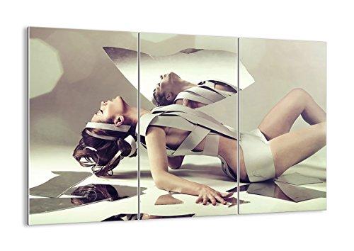 Cuadro sobre Vidrio - Cuadro de Cristal - 3 Piezas - 165x110
