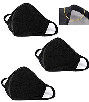 3PCS Unisex, Washable and Reusable Face Shield with Elastic Ear Loop Anti-Dust by XinWenFeng