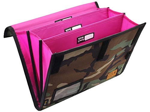 Rough Enough Expanding File Document Folder Bag Accordion File Organizer Filing Folders Paper Divider Case Tactical Portable Portfolio in Camo Cordura