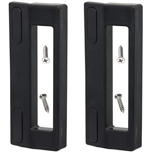 SPARES2GO Universal Door Handle, Compatible with Frigidaire, Daewoo & Servis Fridge Freezer (Pack of 2, 190mm, Black)