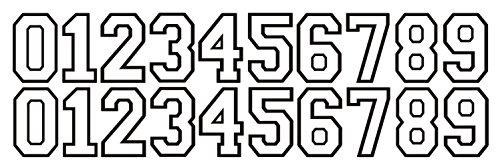 hockey helmet numbers - 9