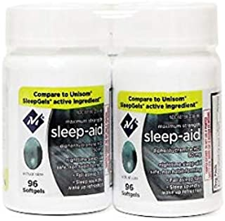 Member's Mark Maximum Strength Nighttime Sleep Aid Diphenhydramine HCL 50mg (4 bottles (384 softgels))