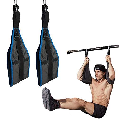 vocheer AB cinghie per sollevamento pesi addominali imbottito imbragature da appendere con chiusura rapida moschettone per addominali, sollevamento gambe, pull up, casa e palestra, blu