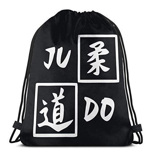 Judo Symbol Drawstring Zaino Zaino Borse a tracolla Borsa da palestra
