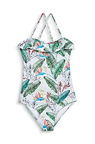 ESPRIT Bodywear Mädchen Lilian Beach YG Swimsuit Badeanzug, 390/Light Aqua Green, 152/158