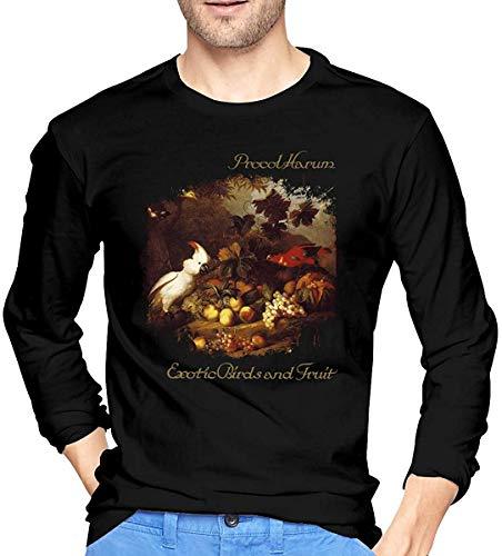 Nathalie R Salmeron Procol Harum - Camiseta de cuello redondo para hombre, color negro