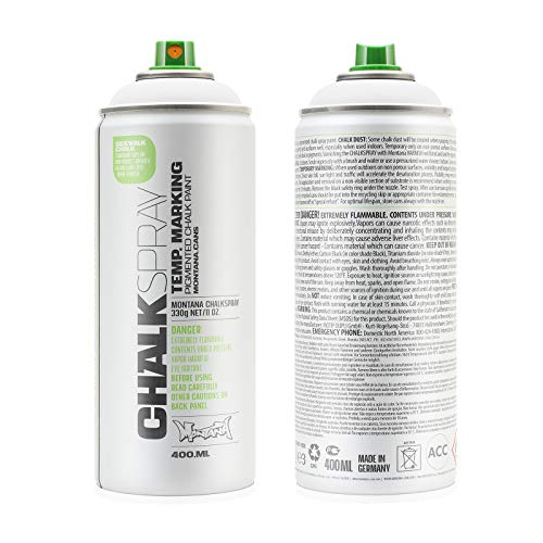 Montana Cans Montana Chalk Color Spray Paint, 400 Ml, White