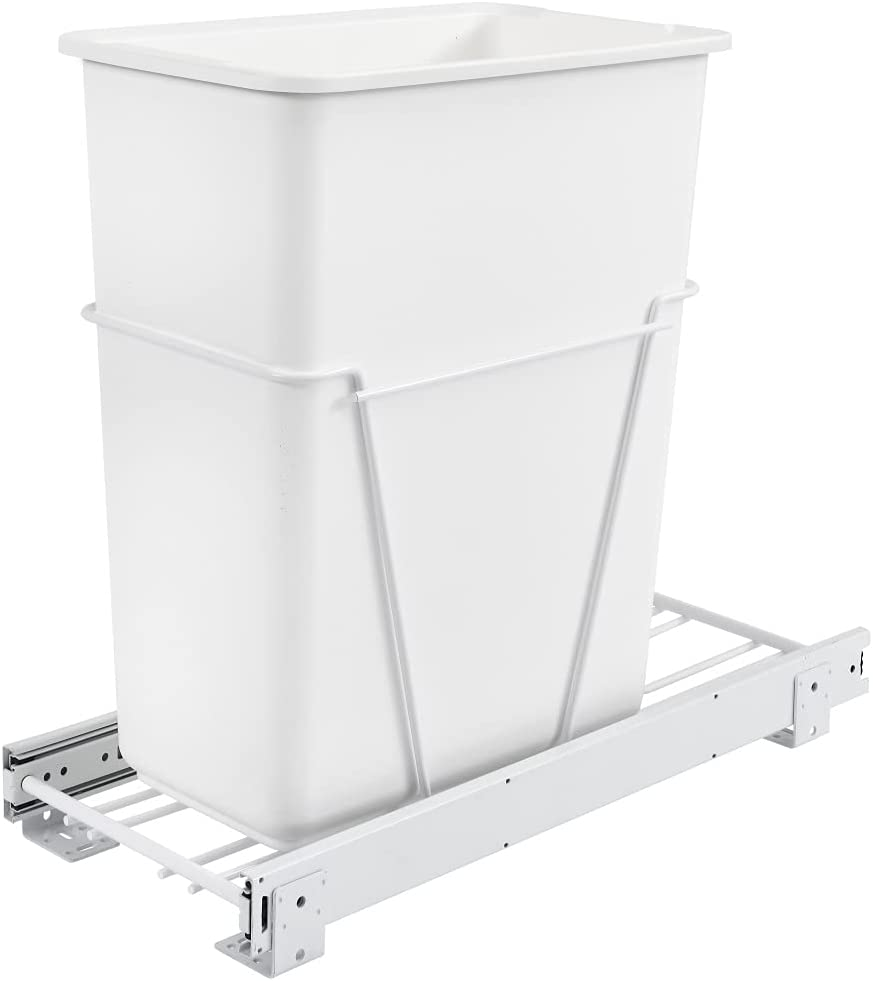 Rev-A-Shelf Max 62% OFF 30 Qrt Pull-Out Spasm price Container Waste Standard White