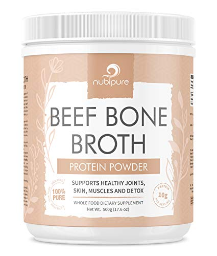 Beef Bone Broth Powder 500g | Unflavoured Sweden Grass Fed | Supplement for Skin, Nails, Hair, Tendons, Ligaments, Pain & Keto
