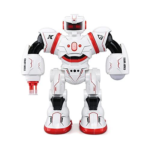 Robot Juguetes para niños Educación temprana Sensor de gesto inteligente Control remoto Robot Puzzle Light Music Dance Electric RC Modelo Modelo Modelo y niñas Presentación automática Juguete juguete