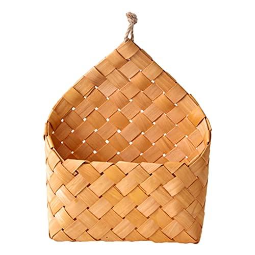 FLAMEER Cesta de Pared Tejida Colgante con Asas, pequeñas cestas de Granja montadas en la Pared, Almacenamiento de Pared de...
