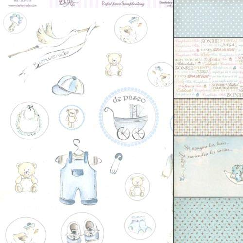 Dayka Trade Kit de scrapbooking, Papel, Multicolor, Talla unica