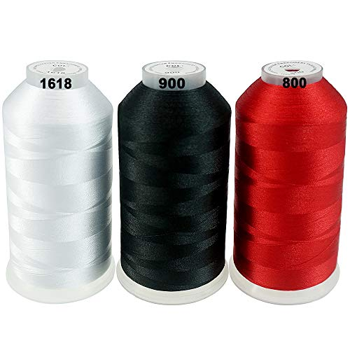 New brothreads -32 Options- Various Assorted Color Packs of Polyester Embroidery Machine Thread Huge Spool 5000M for All Embroidery Machines - Basic Colors 1