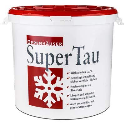 SuperTau Auftaugranulat Schnee Und Eisfrei Bis -40°C Mit Anti Rutsch Effekt Im Praktischen 25 kg Eimer Die Alternative Zu Streusalz