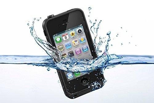 Funda Carcasa para Smartphone Apple iPhone 5 / 5S acuática Sumergible mismas Funciones Lifeproof Waterproof Color   Negro