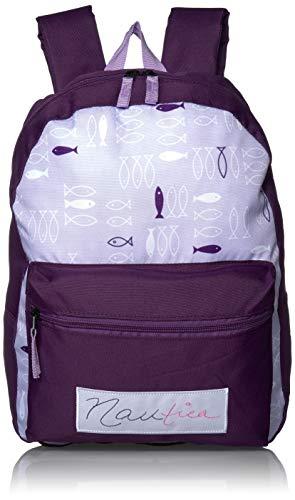 Nautica Girls#039 Big Fashion Print Small Backpack for Kids Grape One Size