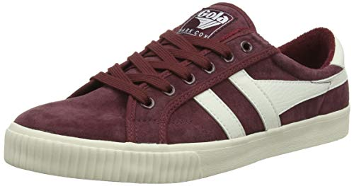 Gola Men's Tennis Mark Cox Suede Trainers, Red Burgundy Off White Rw, 45