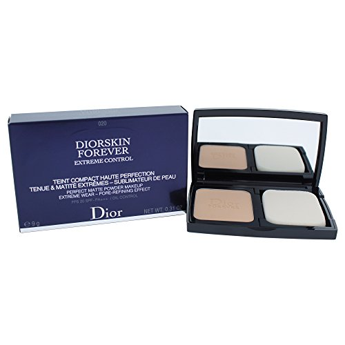 Christian Dior Diorskin Forever Extreme Control Matte Powder Makeup SPF 20 Foundation for Women, Light Beige, 0.31 Ounce