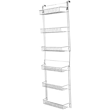 Lavish Home Closet Organizer with 6 Shelves, Over the Door Pantry Organizer and Bathroom Organizer by