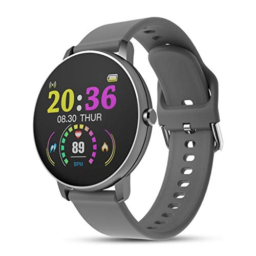 Bluetooth Impermeable Smart Watch Presión Arterial Monitor De Aptitud Pulsera (Color : Silver Gray)