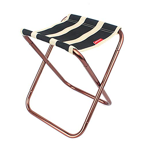 Tabouret Pliant D'extérieur Chaise De Plage en Alliage D'aluminium Aviation 7075 Chaise De Barbecue De Camping Installation Et Stockage Faciles Charge Maximale 100Kg,AB