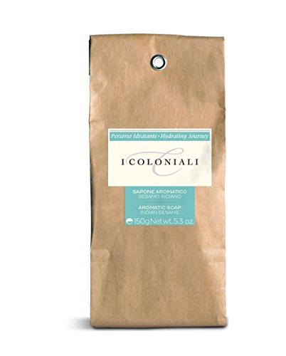 i Coloniali Cd-8002135115392 Saponetta Detergente Idratante Aromatica al Sesamo Indiano - 110 Gr