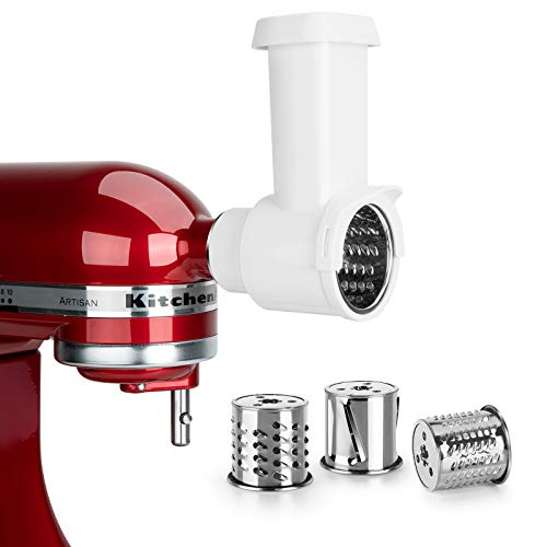 iVict Slicer Shredder Attachment for All KitchenAid Stand Mixers/Cuisinart Stand Mixers SM-50 series,Vegetable Chopper Accessory-Salad Maker