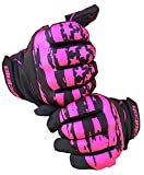 Clutch Sports Apparel Baseball and Softball Batting Gloves - Pink Flag, Youth X-Large