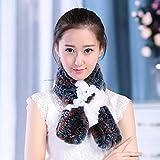 FFSMCQ Silenziatore Moda Inverno Caldo in Pelliccia Naturale Vera E Propria Aria di Coniglio Lady Sciarpa Donne Sciarpa Silenzioso 5 Colori