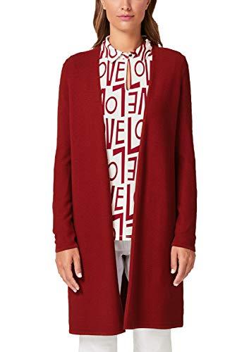 s.Oliver BLACK LABEL Damen 11.909.64.5114 Strickjacke, Rot (Rio Red 3665), (Herstellergröße: 34)