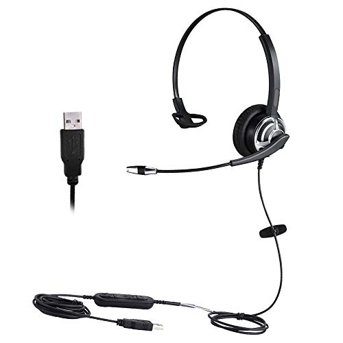 USB Headset with Nuance Dragon Dication Noise Cancelling Microphone for...