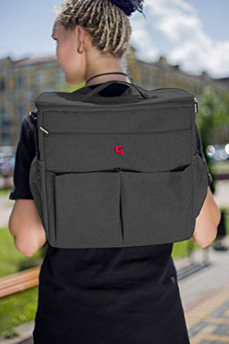 Multi Luiertas (Donkergrijs) - als rugzak, schoudertas en als handtas te gebruiken | GoldBaby verzorgingstas