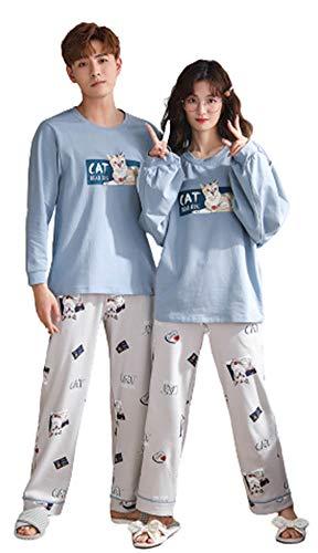 ペアルック カップル2着セット ペアルック パジャマ ルームウェア おそろいパジャマ カップル 綿 パジャマ メンズ 部屋着 おそろい カップル カップル tシャツ 寝巻き レディース 部屋着 ペア ペアルック 夏 ルームウェア レディース ワンピース m