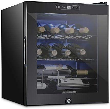 Schmecke 12 Bottle Compressor Wine Cooler Refrigerator w Lock Large Freestanding Wine Cellar product image