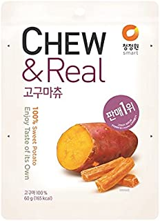 CJW 100% Dried Sweet Potato Chew Snack 2.11 Oz. (Pack of 3)