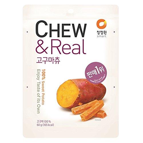 CJW 100% Dried Sweet Potato Chew Snack 2.11 Oz. (Pack of 3)