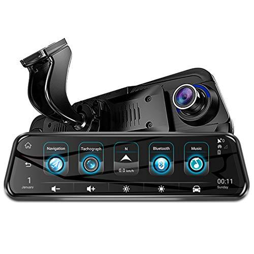 """Alecony Spiegel Dashcam, 1080P 4G WiFi GPS ADAS DVR Vorne und Hinten Autokamera, 9\"""" IPS Touchscreen Video Recorder Auto Kamera mit Rückfahrkamera, Nachtsicht, Parküberwachung, Loop-Aufnahme & G-Sensor"""