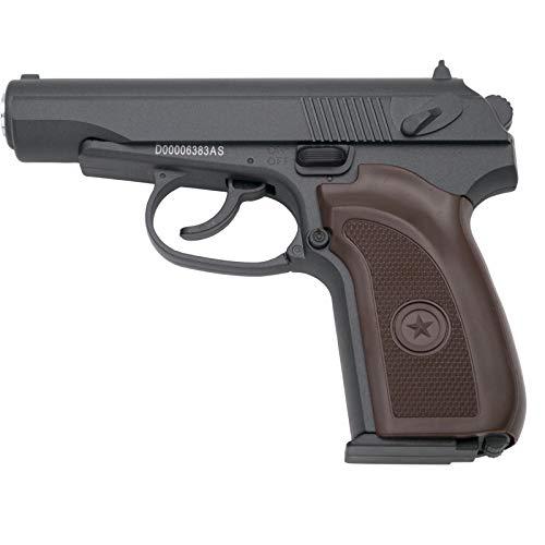 Galaxy Pistola G29 Tipo Makarova - Negra - Pistola Muelle Calibre 6mm Aleación Metal y Zinc - Energía 0.26 Julios - Velocidad de Disparo 72 m/s - 236 FPS. Ref:G29