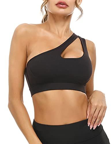 Doaraha Sport BH Damen Bequem BH Push Up und Ohne Bügel Bustier Yoga BH Gepolstert Sports Bra Crop Top für Fitness Yoga Laufen Training